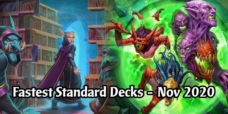 Win a Game of Hearthstone in 6 Minutes or Less! The Fastest Decks for Standard's November Ladder