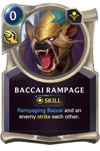 Baccai Rampage Card Image