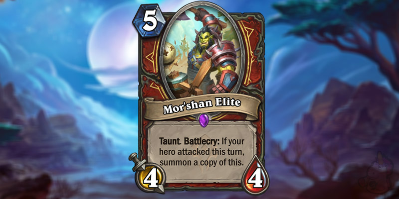 YiBenDao Reveals a New Forged in the Barrens Warrior Card - Mor'shan Elite