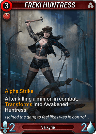 Freki Huntress Card Image