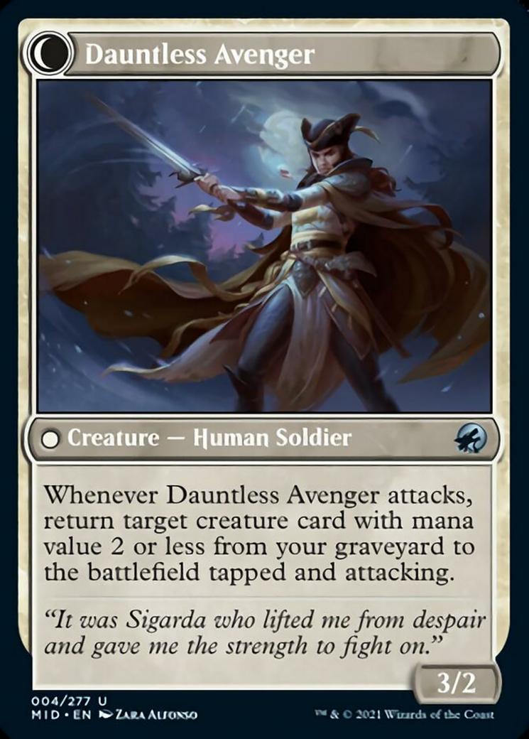 Bereaved Survivor // Dauntless Avenger Card Image
