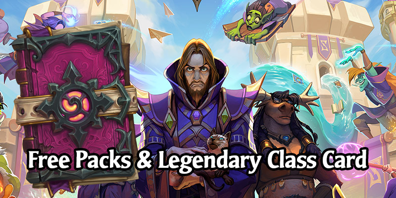 Scholomance Academy's Launch Gives Everyone 1 Free Legendary Class Card & 6 Packs From the Legendary Questline