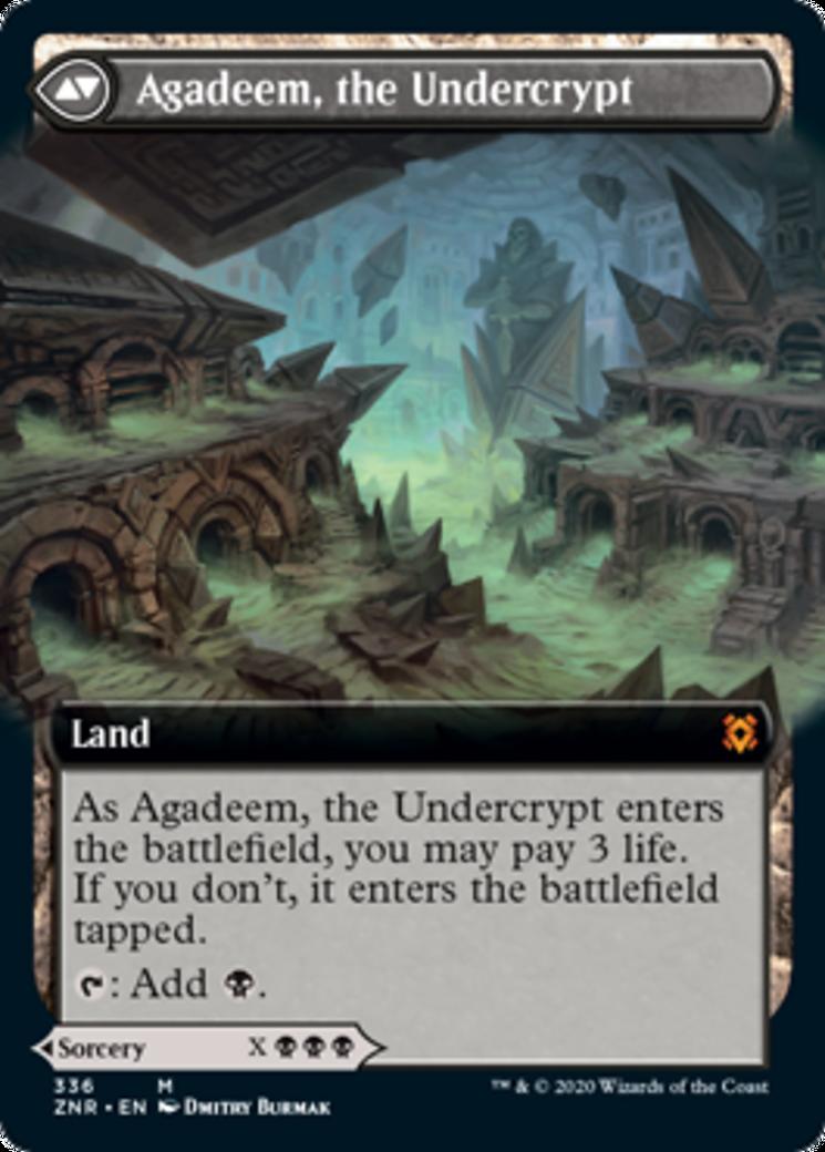 Agadeem's Awakening // Agadeem, the Undercrypt Card Image