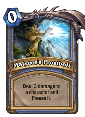 Malygos's Frostbolt Card Image