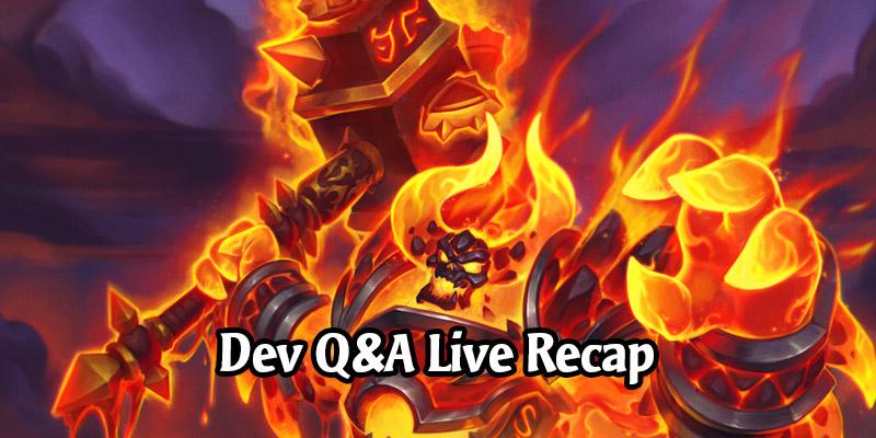 BlizzConline Hearthstone Developer Q&A Panel Live Recap