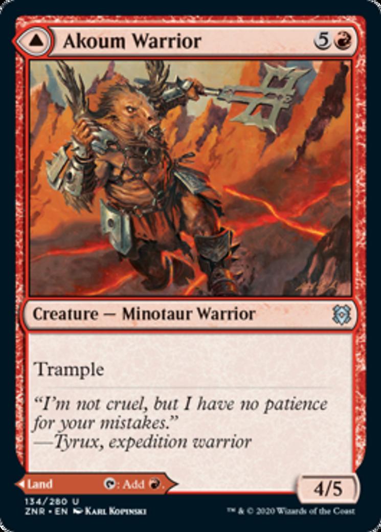 Akoum Warrior // Akoum Teeth Card Image