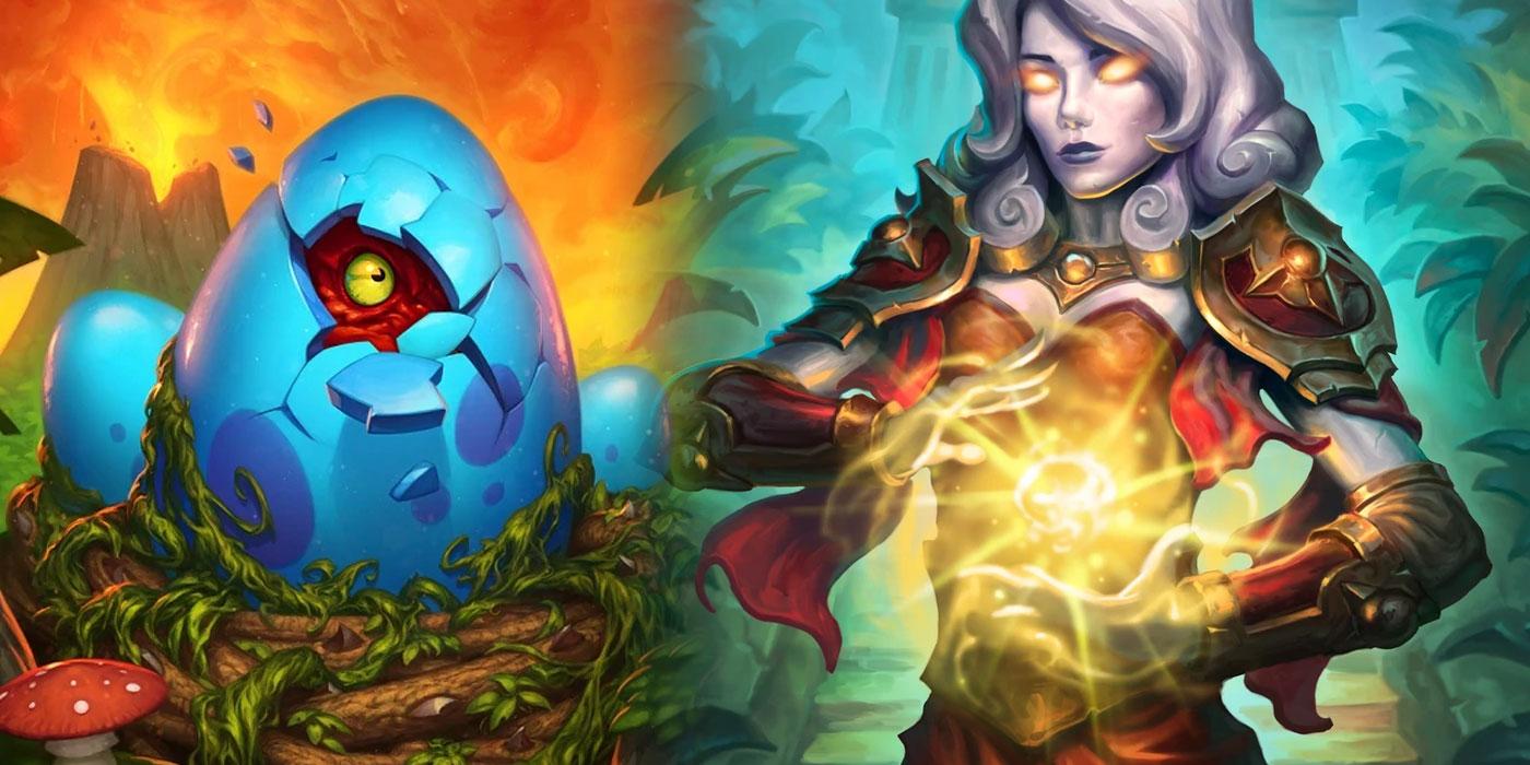 Weekend of Wild Hearthstone Decks - Deathrattle Highlander Priest, Egg Rogue, Quest Totem Shaman, & More