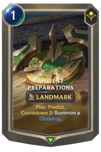 Ancient Preparations Card Image