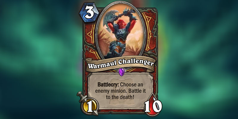 Warmaul Challenger is a new Warrior Card Revealed for Hearthstone's Ashes of Outland Expansion