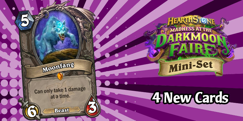 4 More Darkmoon Faire Mini Set Card Reveals - Moonfang Legendary & 3 Corrupt Cards