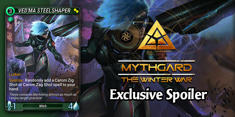 EXCLUSIVE Mythgard Card Spoiler for The Winter War - Ved'ma Steelshaper