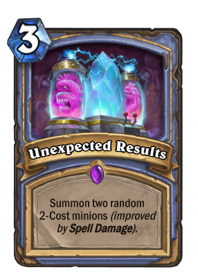 Unexpected Results Card Image