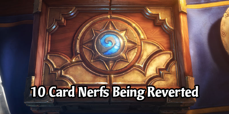 10 Hearthstone Cards are Having Their Nerfs Reverted Including a Year of the Dragon Card
