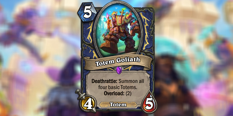 Totem Goliath is a New Shaman Card Revealed for Hearthstone's Scholomance Academy Expansion