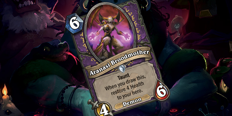 New Warlock Card- Aranasi Broodmother