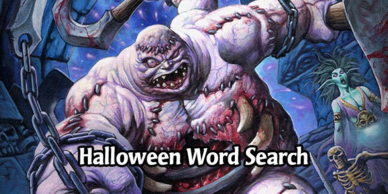 Oozefest - A Hearthstone Halloween Word Search Puzzle Fit For An Abomination
