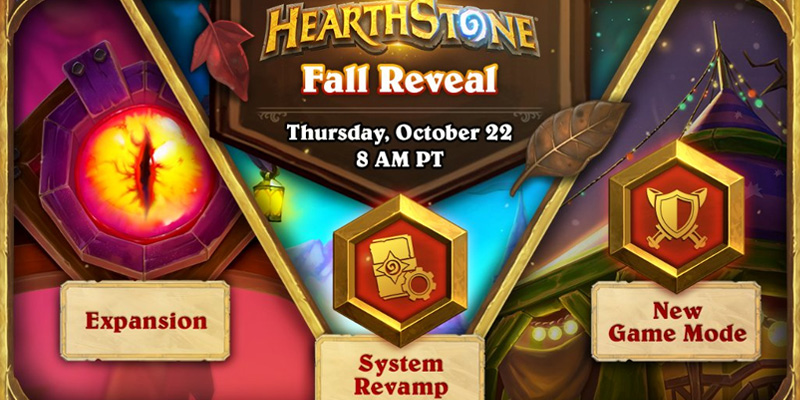 Blizzard Confirms New Hearthstone Expansion, New Game Mode, and Rewards Revamp Are Revealed Next Week on October 22