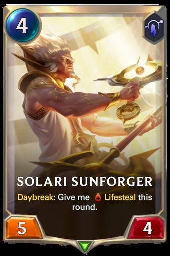 Solari Sunforger Card Image