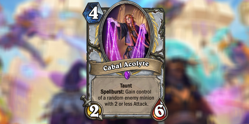 Cabal Acolyte is a New Priest Card Revealed for Hearthstone's Scholomance Academy Expansion