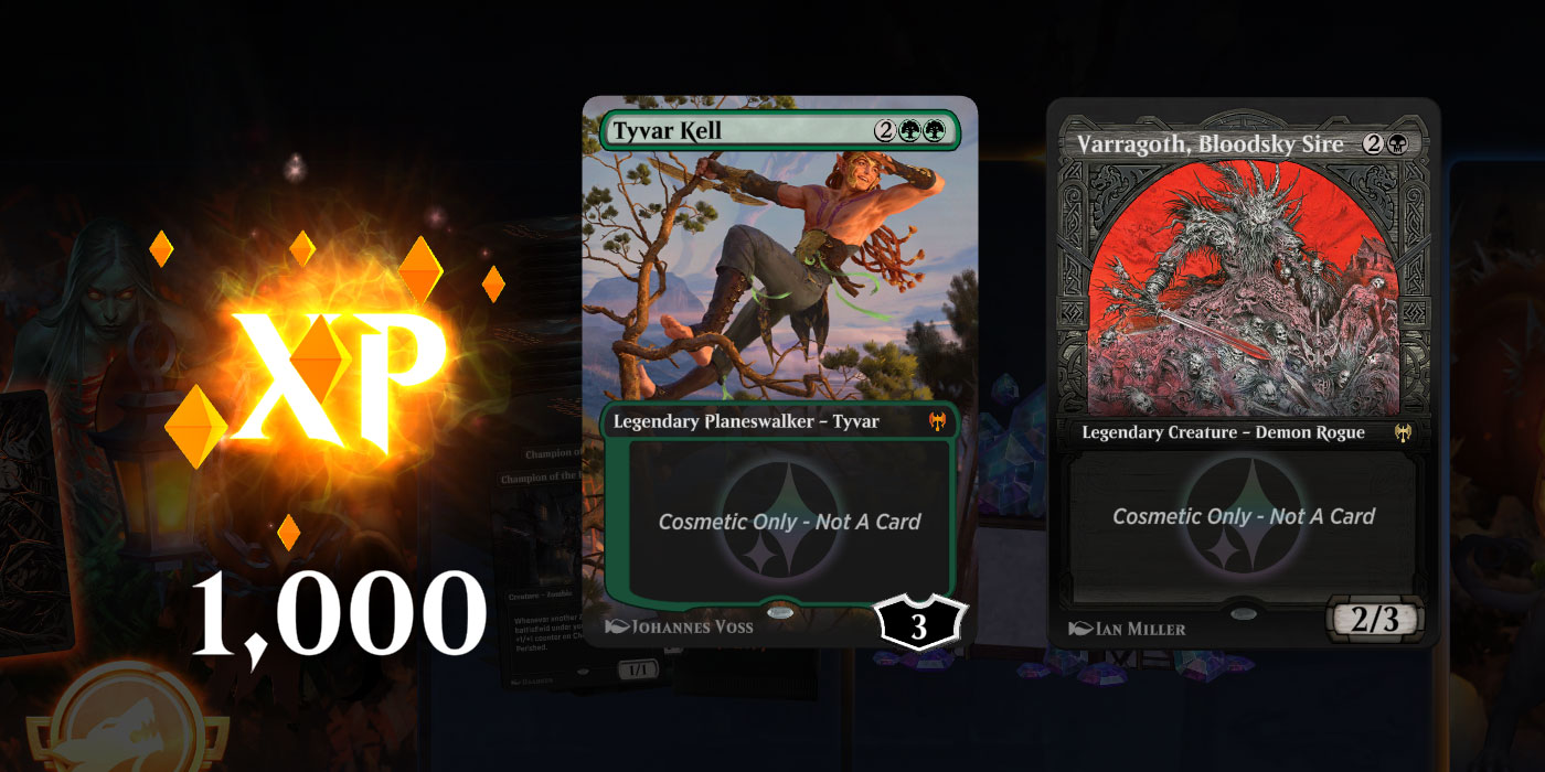 MTG Arena Nominated for Best Game Community, Wizards is Giving Away 1000 XP and 2 Free Cosmetics With a Code