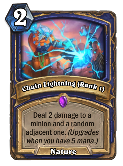 Chain Lightning (Rank 1) Card Image