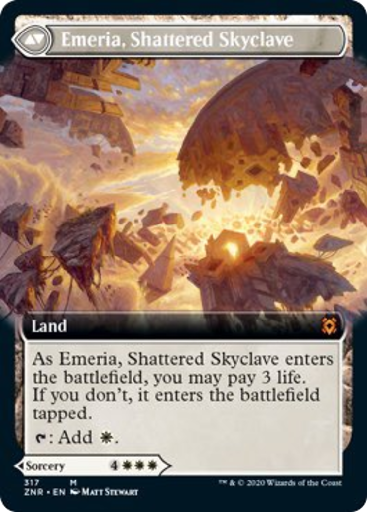 Emeria's Call // Emeria, Shattered Skyclave Card Image