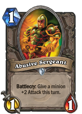 Abusive Sergeant Card Image