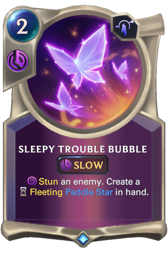 Sleepy Trouble Bubble Card Image