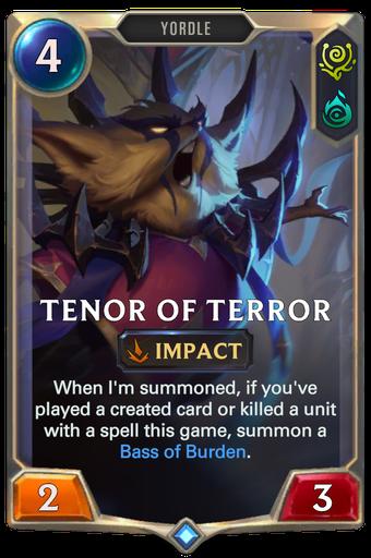 Tenor of Terror Card Image