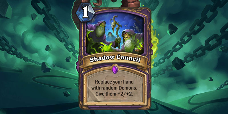 Shadow Council is a new Warlock Spell Revealed for Hearthstone's Ashes of Outland Expansion