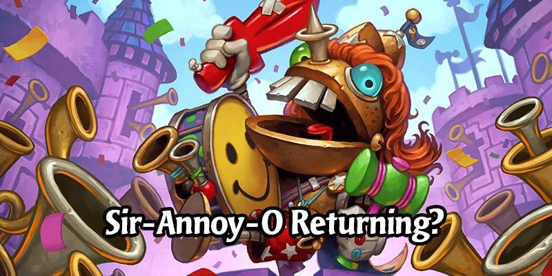 Is Hearthstone's Sir Annoy-O Paladin Hero Skin Making a Return Soon?