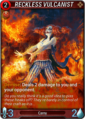 Reckless Vulcanist Card Image