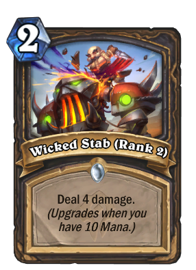 Wicked Stab (Rank 2) Card Image