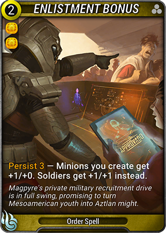 Enlistment Bonus Card Image