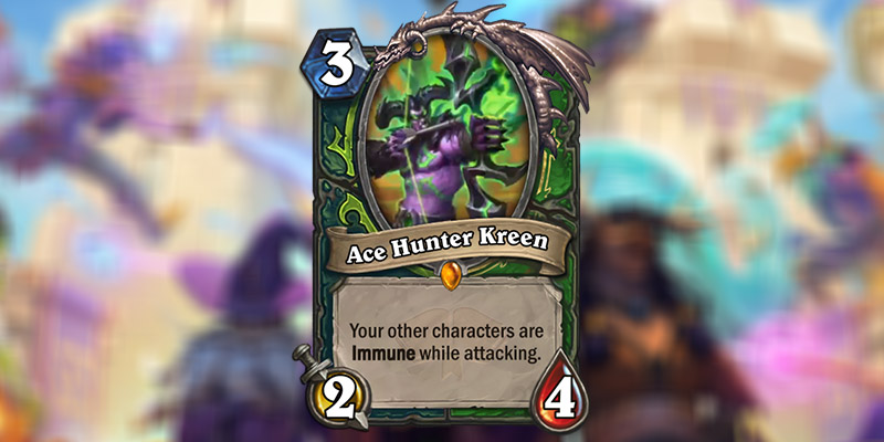 Ace Hunter Kreen is a New Hunter & Demon Hunter Legendary Revealed for Hearthstone's Scholomance Academy Expansion
