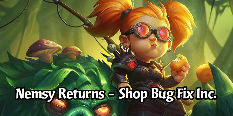 Nemsy Necrofizzle's Redemption Period Extended Until May 26 - A Fix for the Shop Bug Coming Later This Week