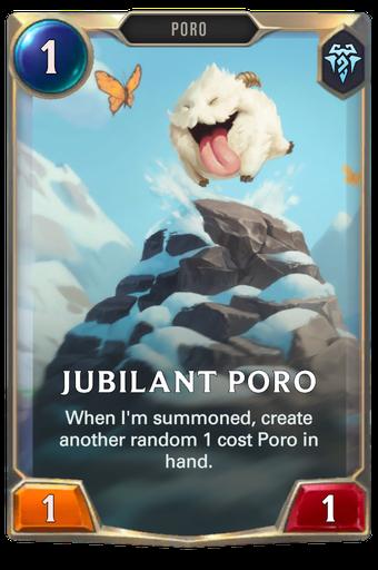 Jubilant Poro Card Image