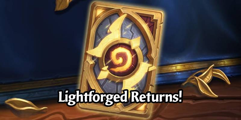 Lightforged Card Back is Now Available in the Hearthstone Shop
