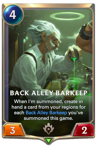 Back Alley Barkeep Card Image