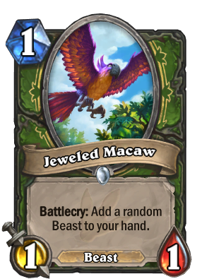 Jeweled Macaw Card Image