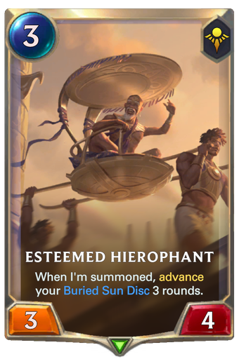Esteemed Hierophant Card Image