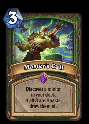 Master's Call Card Image