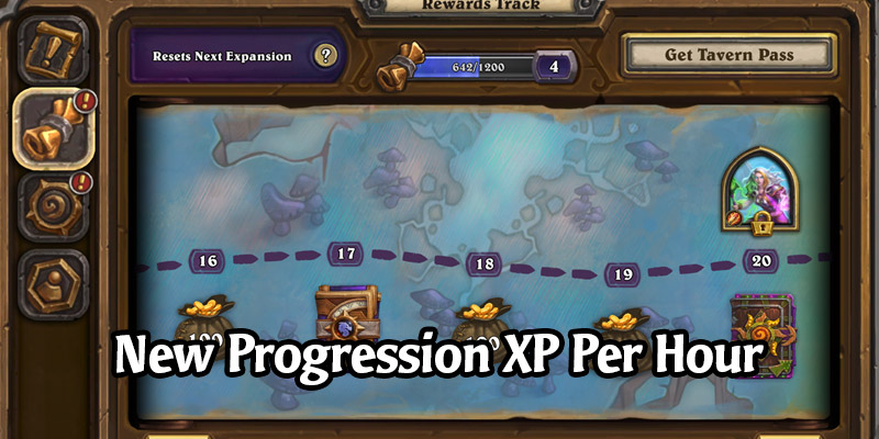 Hearthstone's New Progression System, the Reward Track, Has Time-Based Experience - XP Per Hour, No Daily Cap... Yet