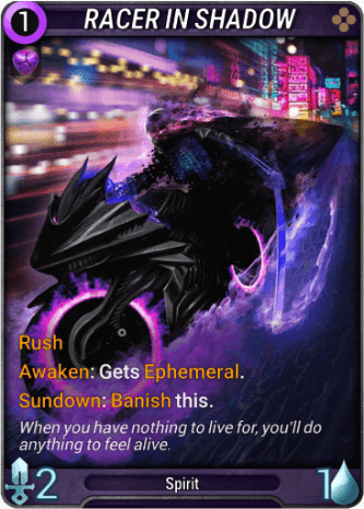 Racer in Shadow Card Image