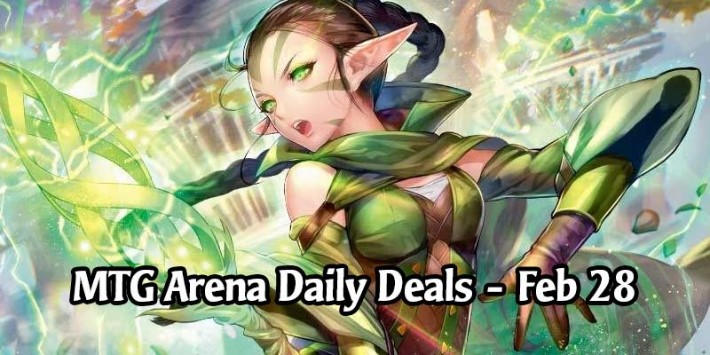 Daily Store Deals in MTG Arena for February 28, 2020 - 80% Off Nissa Hitowa Sleeve & More!