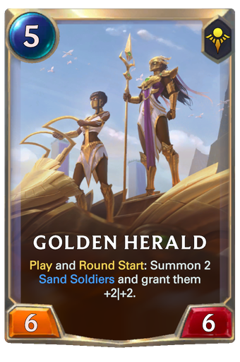 Golden Herald Card Image