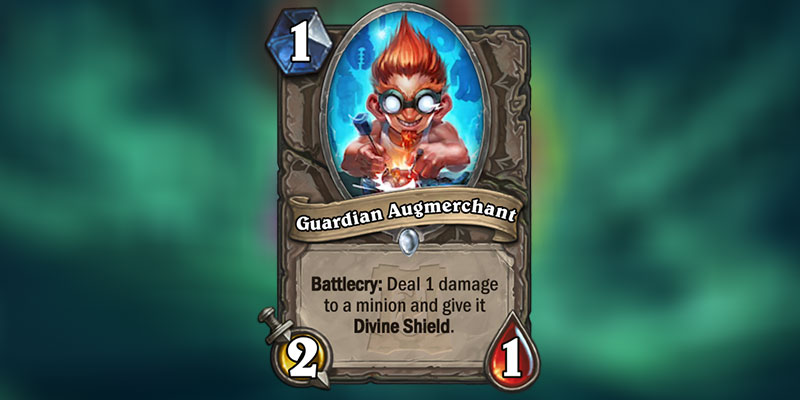 Guardian Augmerchant is a new Card Revealed for Hearthstone's Ashes of Outland Expansion
