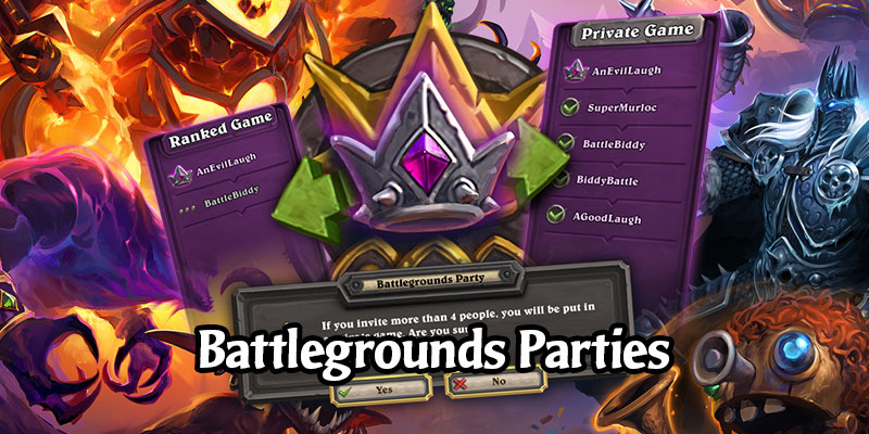 Battlegrounds Parties Coming Next Week - Queue With More Than 1 Friend! Create a Private Lobby