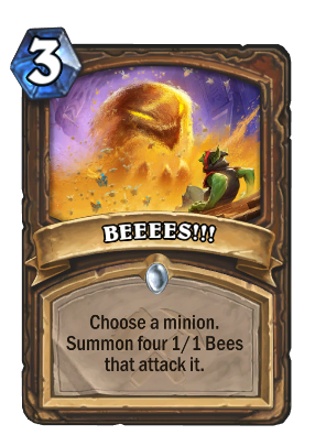 BEEEES!!! Card Image