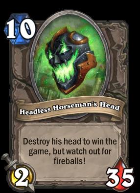 Headless Horseman's Head Card Image
